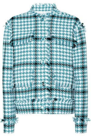 Msgm Houndstooth cotton-blend jacket