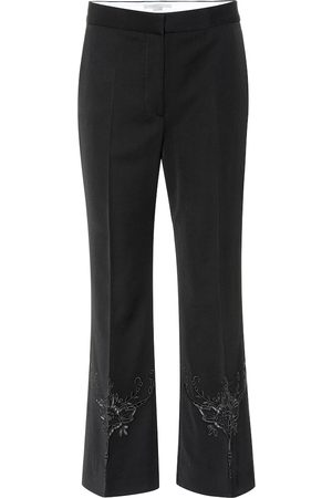 Stella McCartney Alissa embroidered wool pants