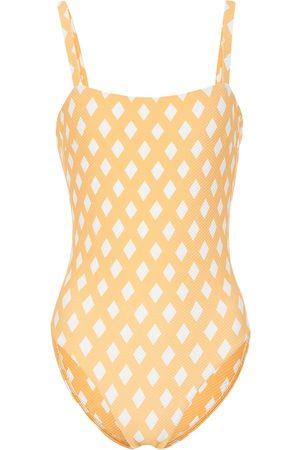 ASCENO Triangle Check swimsuit