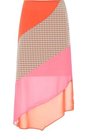 REJINA PYO Bella paneled crêpe skirt
