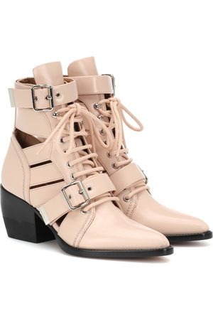Chloé Rylee patent leather ankle boots