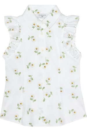 MONNALISA Printed sleeveless cotton shirt