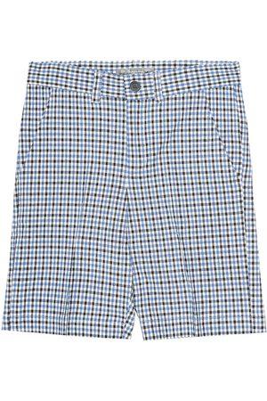 BONPOINT Calvin checked cotton-blend shorts