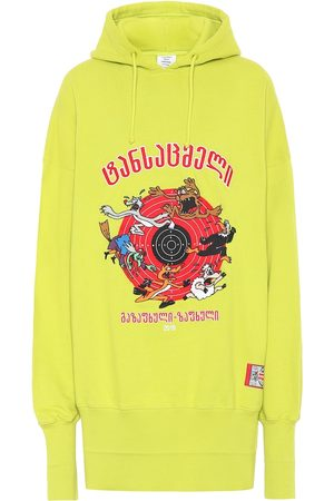 Vetements Printed oversized cotton hoodie