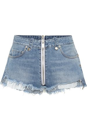 UNRAVEL High-rise denim shorts
