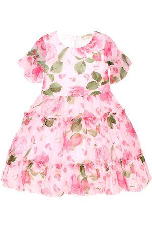 MONNALISA Floral-printed georgette dress