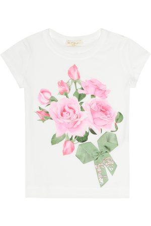 MONNALISA Floral-printed T-shirt