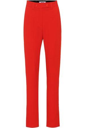 Msgm High-rise crêpe pants