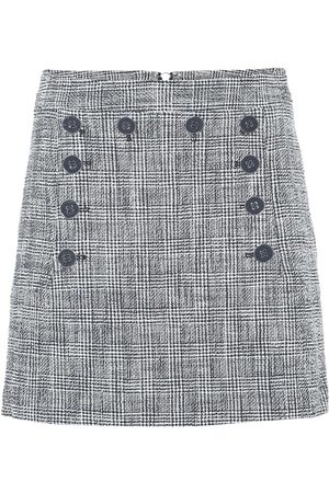 VERONICA BEARD Maida checked tweed miniskirt