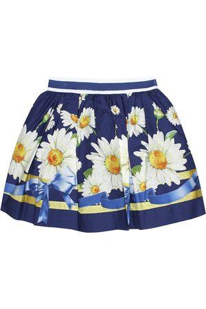 MONNALISA Floral-printed cotton skirt