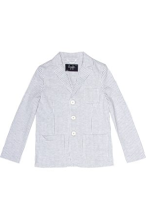Il gufo Striped cotton blazer