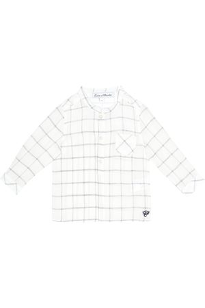 Tartine Et Chocolat Checked linen-blend shirt