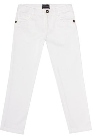 VERSACE Stretch-cotton straight jeans