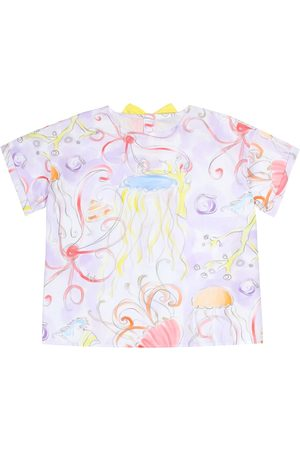 Il gufo Printed cotton blouse