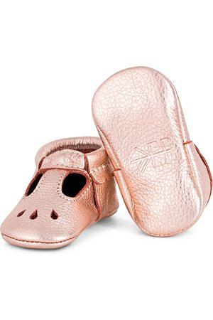 Freshly Picked Girls' Metallic Leather Mary Jane Moccasins - Baby