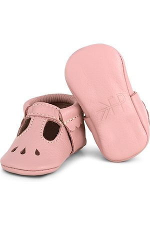 Freshly Picked Girls' Metallic Leather Mary Jane Moccasins - Baby