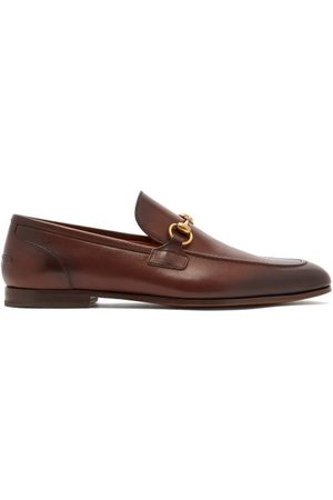 Gucci Men Loafers - Jordaan Horsebit Leather Loafers - Mens