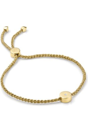 Monica Vinader Women Bracelets - Gold Linear Solo Friendship Diamond Bracelet Diamond