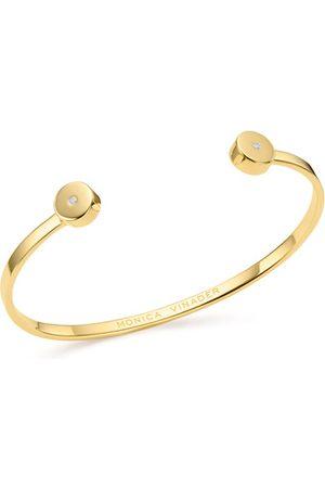 Monica Vinader Gold Linear Solo Diamond Cuff Diamond
