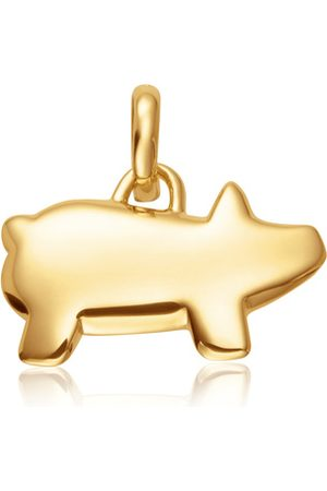 Monica Vinader Women Necklaces - Gold Chinese Zodiac Bessie The Pig Pendant Charm