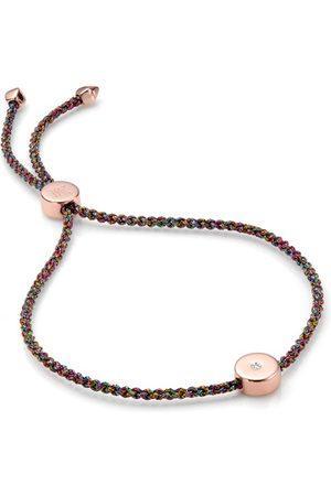 Monica Vinader Rose Gold Linear Solo Friendship Diamond Bracelet Diamond