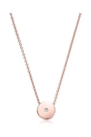 Monica Vinader Women Necklaces - Rose Gold Linear Solo Diamond Necklace Diamond