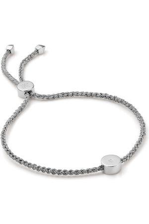 Monica Vinader Sterling Silver Linear Solo Friendship Diamond Bracelet Diamond