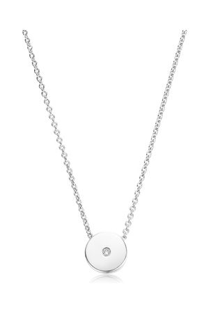 Monica Vinader Women Necklaces - Sterling Silver Linear Solo Diamond Necklace Diamond
