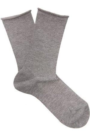 Falke Women Socks - Lurex Logo-intarsia Knit Socks - Womens - Grey