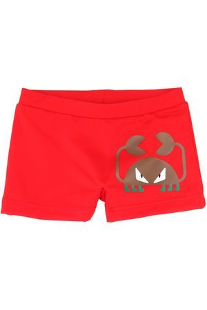 Fendi Boys Swim Shorts - Crab Print Lycra Swim Shorts