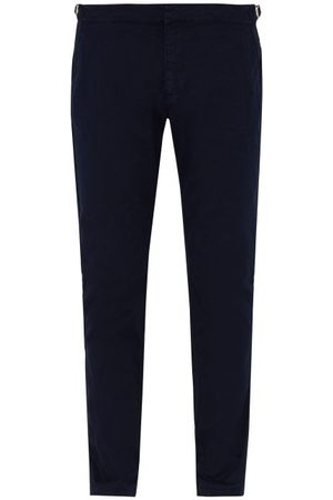Orlebar Brown Men Skinny Pants - Campbell Slim-leg Cotton Trousers - Mens - Navy