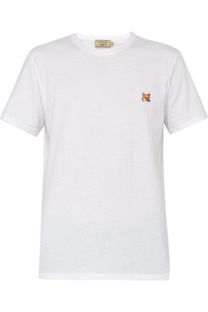 Maison Kitsuné Men T-shirts - Fox Head-patch Cotton-jersey T-shirt - Mens