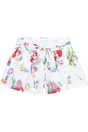 MONNALISA Girls Printed Skirts - Printed cotton shorts
