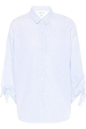 Velvet Iris striped cotton shirt