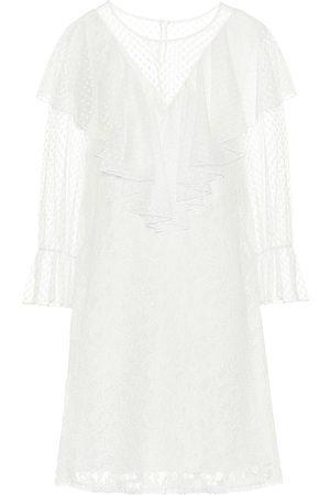 Chloé Cotton-blend lace minidress
