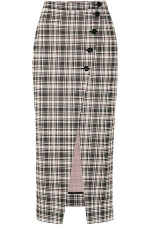 AlexaChung Checked midi skirt