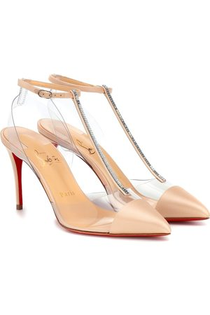 Christian Louboutin Nosy Strass 85 satin pumps