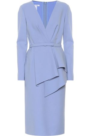 Oscar de la Renta Stretch-wool dress
