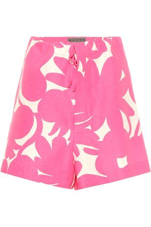 Marni Linen, cotton and silk shorts