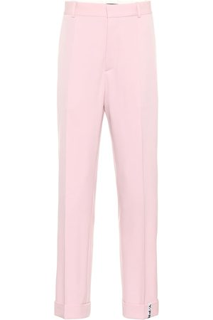 Y / PROJECT Stretch wool mid-rise pants