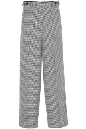 Rokh Houndstooth wide-leg pants