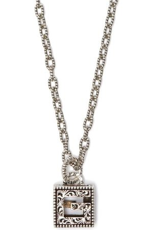 Gucci G-motif Sterling- Necklace - Mens