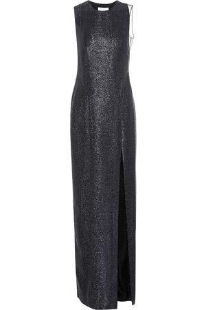 GALVAN Dusk Crescent lamé gown