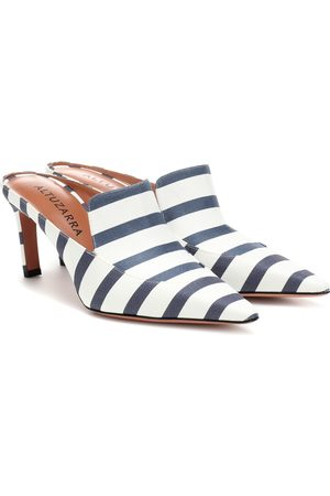 Altuzarra David striped canvas mules