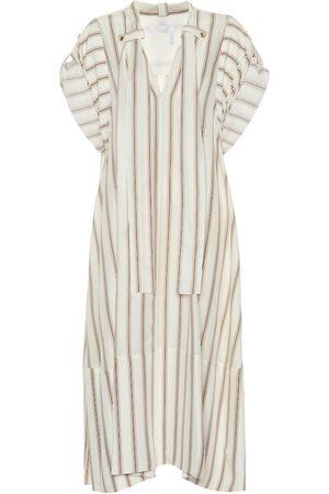 Chloé Striped silk crêpe dress