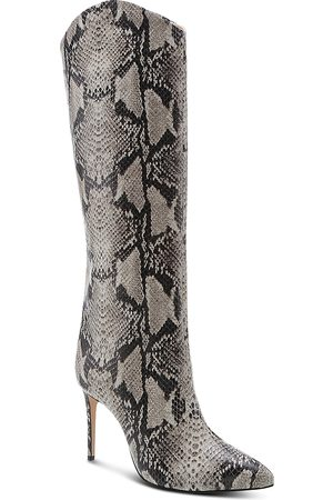 Schutz Women's Maryana Croc-Embossed High-Heel Boots