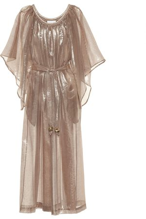 Lisa Marie Fernandez Angel Sleeve lamé maxi dress