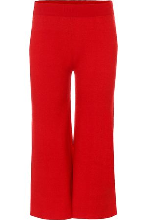 RYAN ROCHE Cashmere wide-leg pants