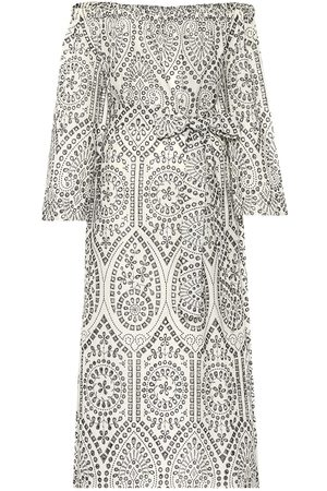 Lisa Marie Fernandez Embroidered cotton midi dress