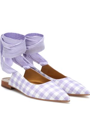 DODO BAR OR Checked ballet flats